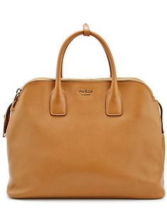 Some of you have to get in on this: Prada Saffiano Leather Triple-Zip Satchel Bag