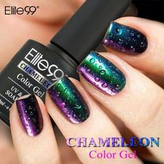 Elite99 color gel 1. Clean Nails then trim nail surface as normal manicure process.   2. Apply base coat first. Make sure to apply a smooth even coat that is neither too thick nor too thin. Cure under a UV lamp for 1 minute or an LED lamp for 30 seconds.   3. Apply a layer of BLACK gel; Cure under a UV lamp for 1 minute or an LED lamp for 30 seconds. When dry, apply the 2nd layer of BLACK gel and cure again. (Blacker base can help to get better color-changing effect)   COLOR:22007 Makeup