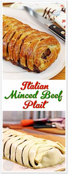 40 Delicious Grilling Recipes for the Tastiest Summer Cookouts Italian Minced Beef Plait – Fab Food 4 All Minced Beef Recipes Easy, Minced Beef Pie, Minced Meat Recipe, Meat Recipes, Cooking Recipes, Healthy Recipes, Cafe Recipes, Savoury Recipes, Cake
