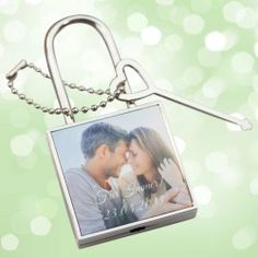 Liebesschloss mit Foto als Geschenk zur Hochzeit