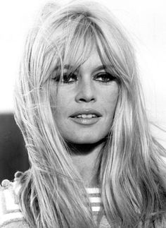 Brigitte Bardot At the young age of 15, French actress Brigitte Bardot made her modeling debut as she landed the cover of the uber-popular French magazine, Elle. Her long blonde hair and trademark smile helped her move into movies. in 1953 she was featured in the film Act of Love with Kirk Douglass. She retired in 1973 after starring in more than 47 films!