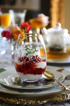 strawberry yogurt parfait.