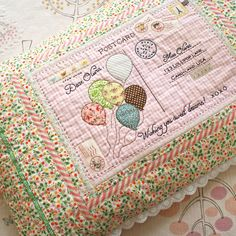A postcard from Paris - darling pillow w/beautiful embroidery from nana company