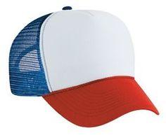 Dustin from STRANGER THINGS Red White & Blue HAT Trucker Cap 80s ADJUSTABLE