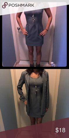 Grey dress with optional matching coat. (Size: S) Grey dress with optional matching coat. (Size: S) Worn once.... Looks brand new!  Dresses
