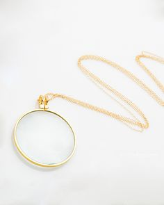 Gold Grace Slick Necklace (with magnifying glass)