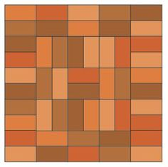 possible brick pattern for walkway - similar to squares in rug