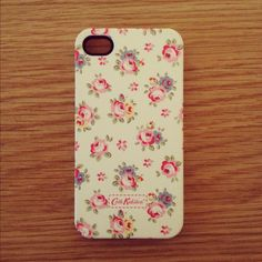 Cath Kidston phone case for iPhone 4S - florals in pink and blue on cream background