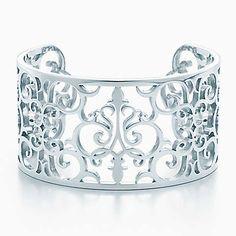 Bracciale rigido Tiffany Enchant™ in argento, misura media.