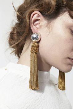 bold tassel earrings #style