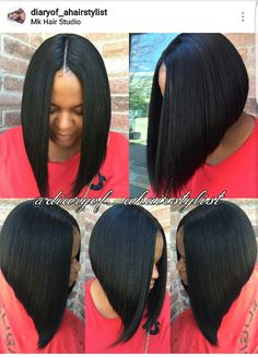 #BobLife #MiddlePartBob #SassyHair  Hairstylist IG Name--> diaryof_ahairstylist