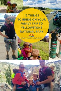Yellowstone Family Trip - a great list of things to bring with you to Yellowstone to make it a more enjoyable trip for you and your kids. Did you know you should bring water shoes to Yellowstone?! Read the post so you don't forget the other 11 things on the list!