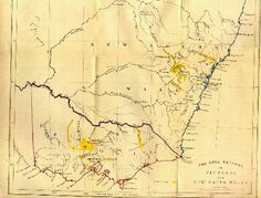 1852 map (by David MacKenzie)  of NSW and Victoria showing the goldfields