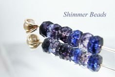Czech Rondell Crystal/Sapphire/Amethyst  . Starting at $5 on Tophatter.com!
