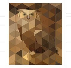 Great Horned Owl, Paper Piece Pattern by Peggy Aare