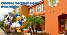 Stay in a 3 bedroom townhome only minutes from Disney World for only $101 per night!