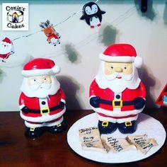 Santa cake based on our cookie jar. HO HO HO