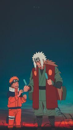 Wallpaper Jiraiya & Naruto