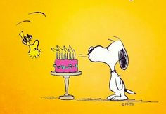 Woodstock and Snoopy - Happy Birthday