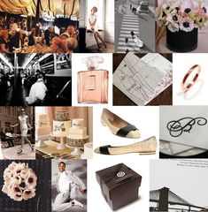 Board #29 | City Hall Champagne Chic - pale pink and black city hall wedding