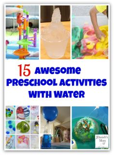 15 Awesome Preschool Activities with Water. Great for a science unit or outdoor play this summer. Summer Activities For Kids, Sensory Activities, Summer Kids, Preschool Activities, Sensory Play, Outdoor Activities, Preschool At Home, Preschool Science, Toddler Preschool