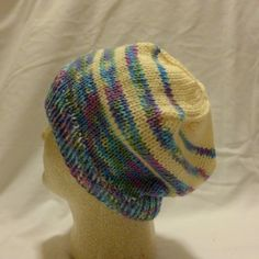 Pastel Haze  Med/large beanie with transitions by PurlyShells808, $15.00