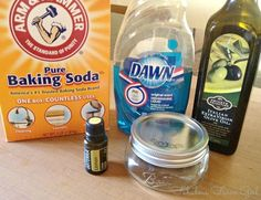 All Natural Goo-B-Gone by FabulousFarmGirl. Works as good as store-bought and smells so much better. Deep Cleaning Tips, Natural Cleaning Products, Cleaning Hacks, Remove Sticker Residue, Remove Stains, Doterra, Homemade Goo Gone, How To Remove Adhesive, Soda Brands