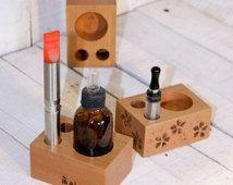 QUARELO nude - Vape stand for e-cig, wood ecig holder, essential ecig stand