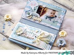 Creating A Family Recipe Scrapbook – Scrapbooking Fun! Mini Albums, Mini Scrapbook Albums, Scrapbook Cards, Mini Bebidas, Baby Mini Album, Baby Boy Scrapbook, Baby Journal, Mini Album Tutorial, Album Photo
