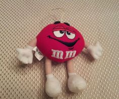 """M M M&M's Characters Red Mars 1997 5"""" Tall Plush Stuffed Animal Toy gift doll mm #unknown"""