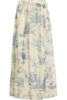 Philosophy di Lorenzo Serafini printed silk chiffon maxi skirt