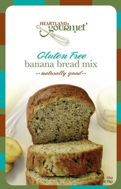 Gluten Free Banana Bread Mix: Nothing is better than fresh banana bread straight out of the oven. Full of real banana flavor. Makes one large loaf or 2 small loaves. Gluten Free Banana Bread, Bread Mix, Oven, Baking, Easy, Desserts, Image Link, Recipes, Fresh