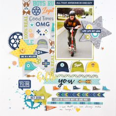 Jillibean Soup: Hello You Layout by Marcia Dehn-Nix featuring 2 Cool For School collection.