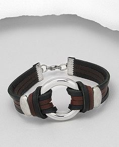 Leather Bracelet, I really like the two different colors of leather on this bracelet.