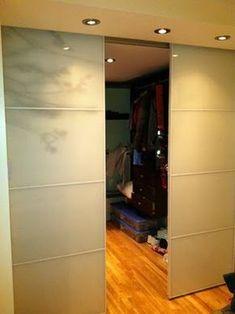 Ikea hack for Woodrow Kitchen divider.  Use Pax wardrobe doors instead of heavy 2x4 framing