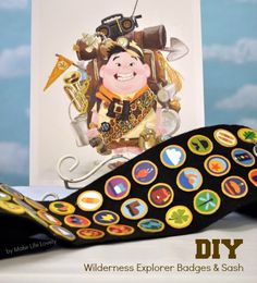 to Make Disney UP Wilderness Explorer Badges- perfect for a Halloween costume or UP party!