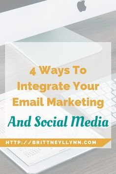 Click to learn the 4 ways to integrate your email marketing and social media!
