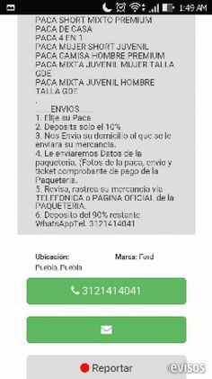 Fraude venta de pacas de ropa  Es fraude nadie le compre esta de acuerdo con empleados de Estafeta, te envía un tiket con mercancía ...  http://colima-city.evisos.com.mx/fraude-venta-de-pacas-de-ropa-id-617601