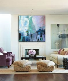 THE MOODY BLUE [286364781289] - $379.00   United Artworks   Original art for interior design, buy original paintings online