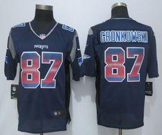 2015 New Nike New England Patriots 87 Gronkowski Pro Line Navy Blue Fashion Strobe Jersey $ 22.5