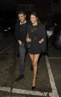 Stunning: Michelle certainly cut a striking figure with her endless legs on display and he. Mark Wright, Michelle Keegan, Walking Down The Aisle, Playsuit, Goth, Display, Legs, Style, Fashion