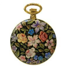 Agassiz Gold and Champlevé Enamel Pendant Watch | From a unique collection of vintage pocket watches at http://www.1stdibs.com/jewelry/watches/pocket-watches/