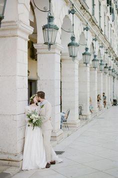 Bride and Groom Portrait Greece Wedding Window, Elope Wedding, Elopement Wedding, Paris Wedding, Wedding Dress, European Wedding, Romantic Wedding Inspiration, Fine Art Wedding Photography, Portrait Photography