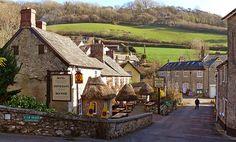 Branscombe village, Devon, England