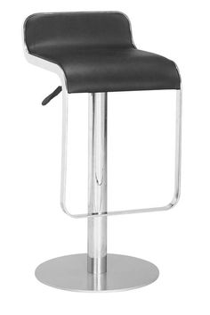 Equino Adjustable Bar Stool - It is both comfortable and stylish, it has a washable leatherette seat, and an adjustable lift. Available in many colors. $239