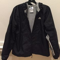 Classic black adidas windbreaker small Perfect condition firm price no trades Adidas Jackets & Coats