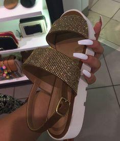 Crystal platform sandals from Aldo.