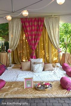 Indian wedding decor – Famous Last Words Desi Wedding Decor, Wedding Stage Decorations, Tent Decorations, Wedding Mandap, Home Wedding, Punjabi Wedding Decor, Indian Wedding Cards, Wedding Themes, Wedding Ceremony