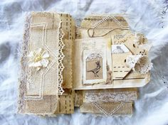 Vintage Mini Album Shabby Journal Mixed Media Book by ShabbySoul
