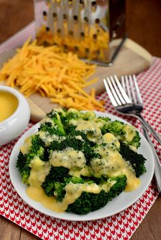 Easy Cheddar Cheese Sauce for Vegetables | iowagirleats.com